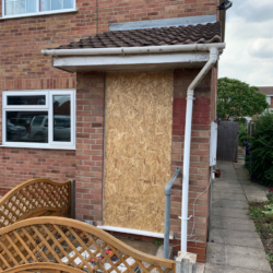 Emergency Home Door Boarding Up Service By Accredited Lockfit Locksmith